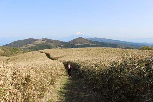 仁科峠・岩の上から景色を楽しむ...