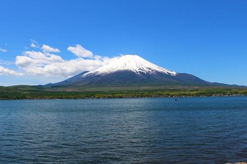 山中湖と富士山1