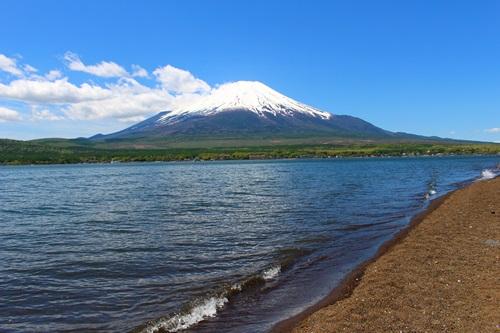 山中湖と富士山3