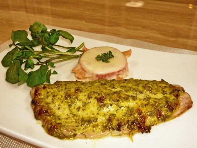 鯖のパセリマスタードソース焼き♪2