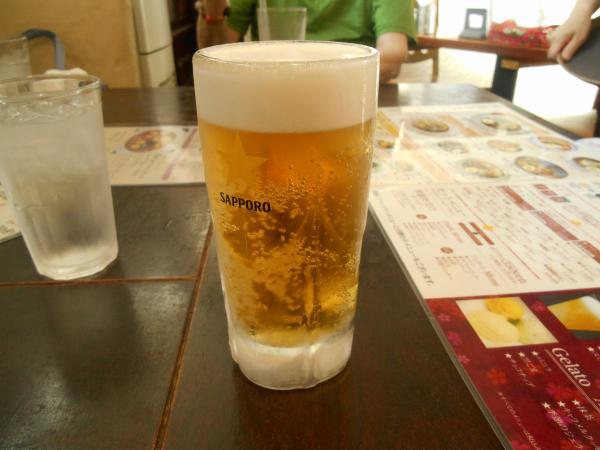 らっきょでビール
