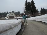 棚田の残雪