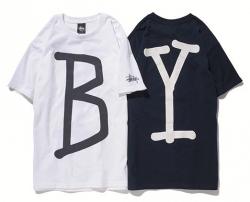 STUSSY × BEAUTY&YOUTH Basic Logo Tee