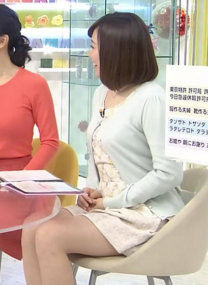 江藤愛 生足太もも (20140320)
