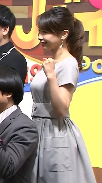 加藤綾子 巨乳横乳