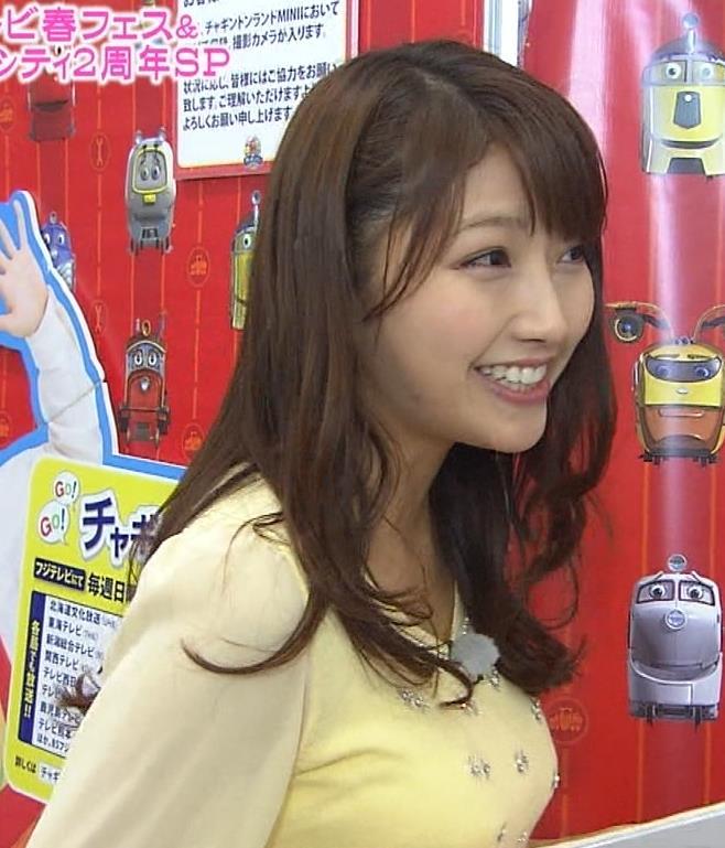 三田友梨佳 横乳 (めざましテレビ 20140328)