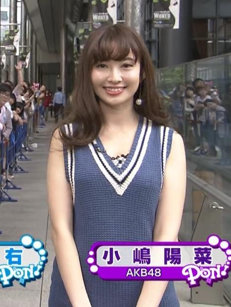 小嶋陽菜 胸ちらキャプ・エロ画像2