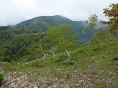 山頂近くからの五色沼