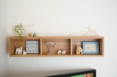 ... MUJI - 壁に付けられる家具・仕切り付ボックス・幅22cm・タモ ...