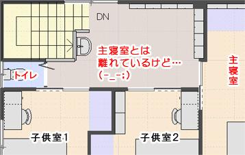 2Fトイレと主寝室
