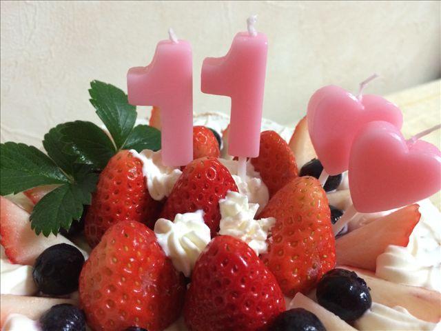 奏子 11歳 ケーキ2