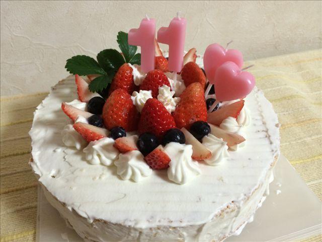 奏子 11歳 ケーキ1