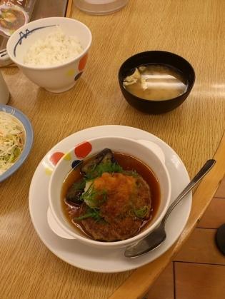 松屋、おろし和風ハンバーグ定食。(2014年5月8日(木)10時~発売)2