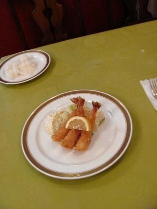 グリル桃山Sランチ(エビフライ、スープ、コーヒー、ライスorパン)3