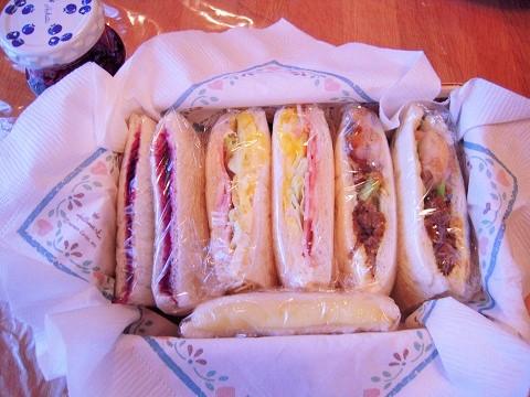130130 お弁当サンドイッチ