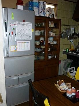 中井邸 キッチン 冷蔵庫 ビフォー