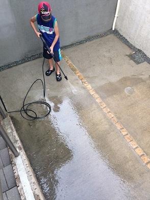 車庫掃除 2