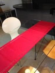 テーブルランナー赤