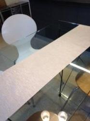 テーブルランナー白