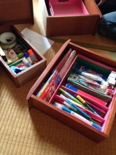 中井邸 2階和室 文具整理