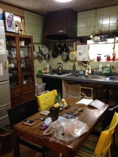 中井邸 キッチン 全貌ビフォー