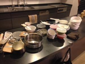 食器の整理 全部出し