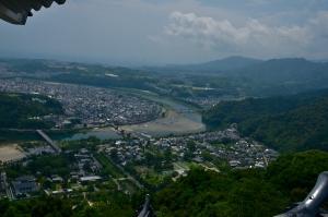 岩国城から見た岩国の町