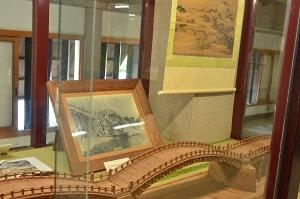 展示された錦帯橋の模型
