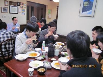 春季合同合宿2014-1 夕食