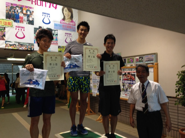 H26 東部カーニバル一般男子100m表彰