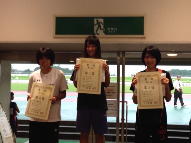 H26 東部カーニバル中学女子100m表彰