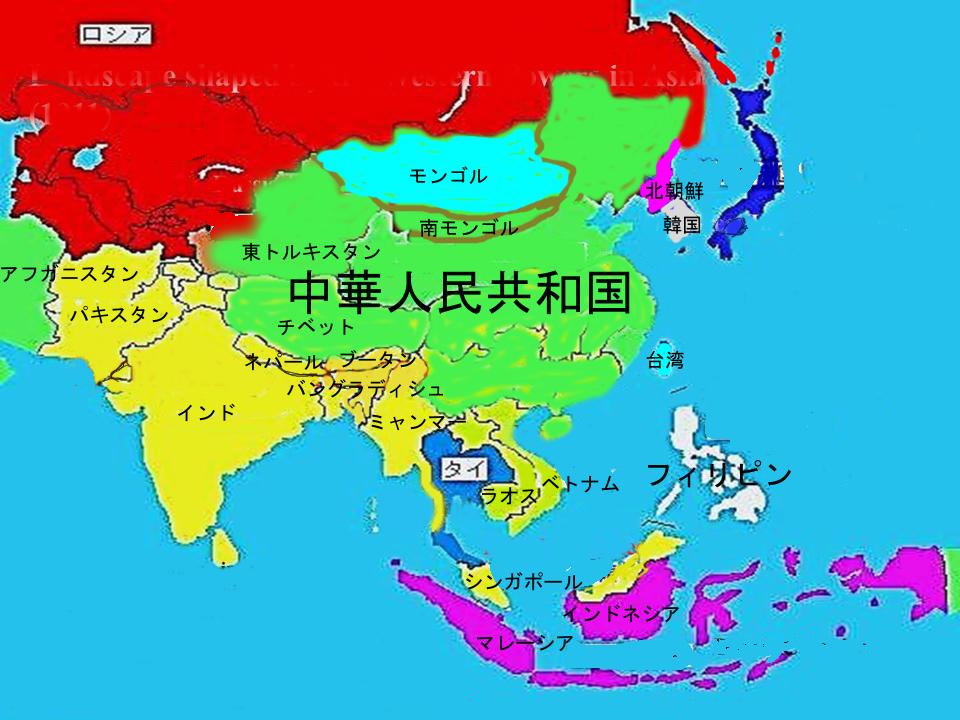2014年の世界地図