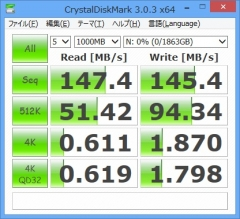 HDCL-UT2.0K 速度結果