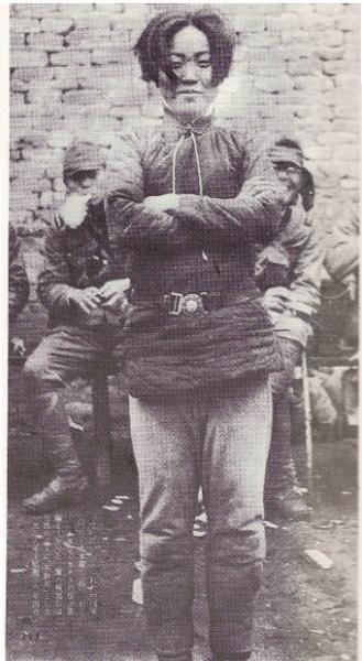 捉えられた中国人女捕虜