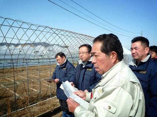 民主党栃木県連≪大雪による農業被害に関する緊急現地調査≫へ!⑨
