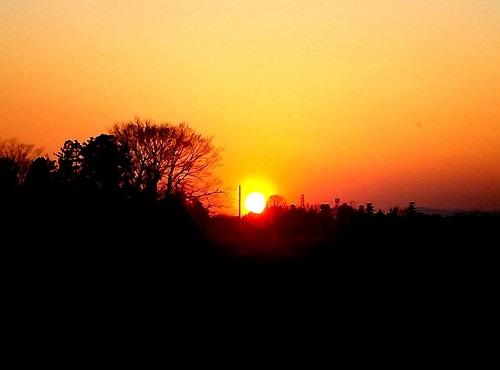 上三川 sunset!!