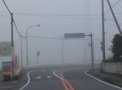 宇都宮市北部は、只今濃霧 !?