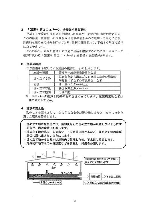(仮称)第2エコパーク<一般廃棄物 最終処分場>建設候補地 整備についての説明会へ!④