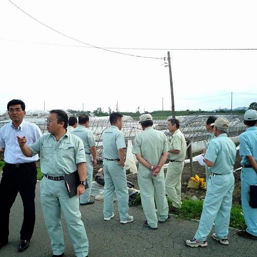 台風11号による突風被害<現地調査>へ!その2壬生町七ツ石 他①
