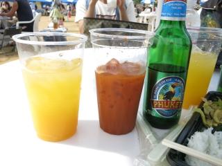 タイフェス大阪 ビール、ジュース