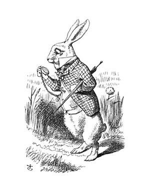 *ルイスキャロル「不思議の国のアリス」 ジョン・テニエルの挿絵の白うさぎ