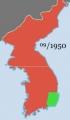 2014-2-14朝鮮戦争の戦線9月