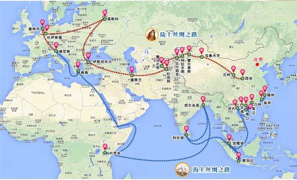 2014-5-13海と陸のシルクロード地図
