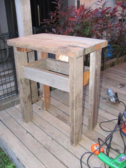 サイドテーブルの製作