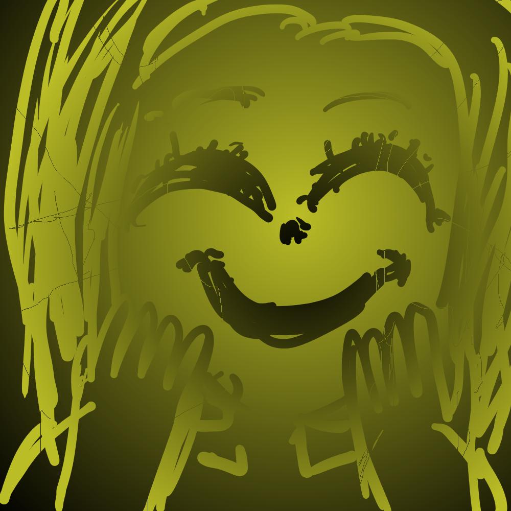 ひび割れた笑顔