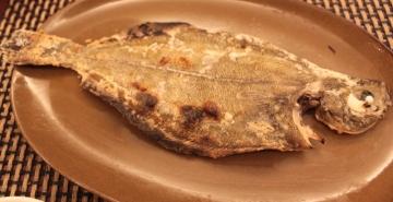 ムシガレイ塩焼き