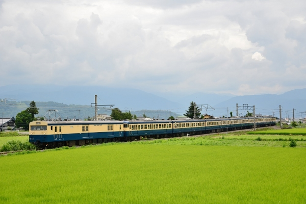 2014年7月20日 JR東日本大糸線 梓橋~一日市場 クモユニ143-1+115系ナノC1編成