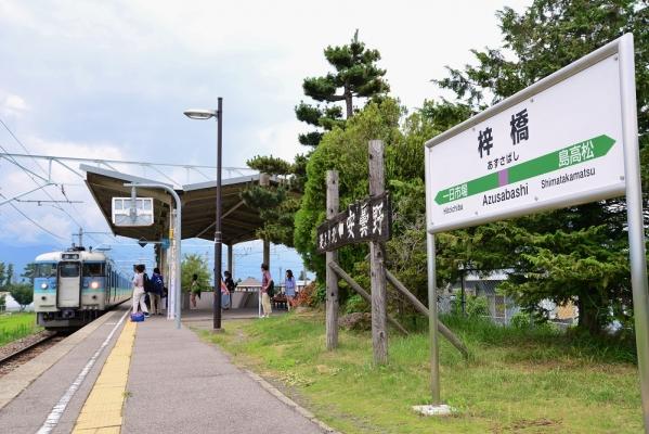 2014年7月20日 JR東日本大糸線 梓橋 115系
