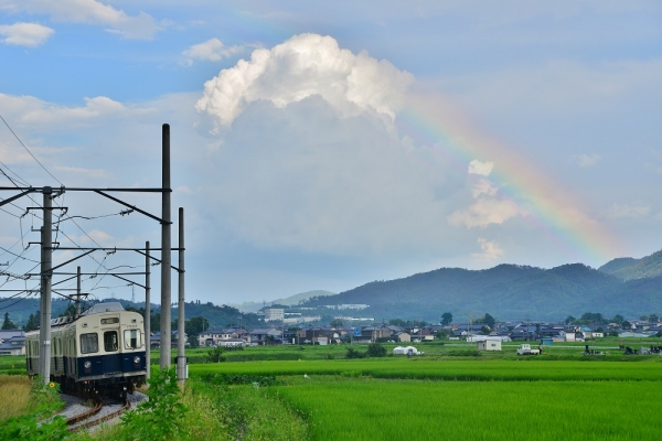 2014年7月20日 上田電鉄別所線 中塩田~下之郷 7200系7253F