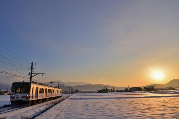 2014年2月10日 上田電鉄別所線 舞田~八木沢 1000系1002F